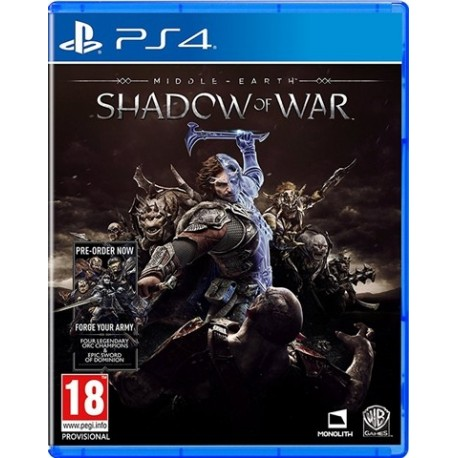PS4 Middle-Earth: Shadow of War (new)