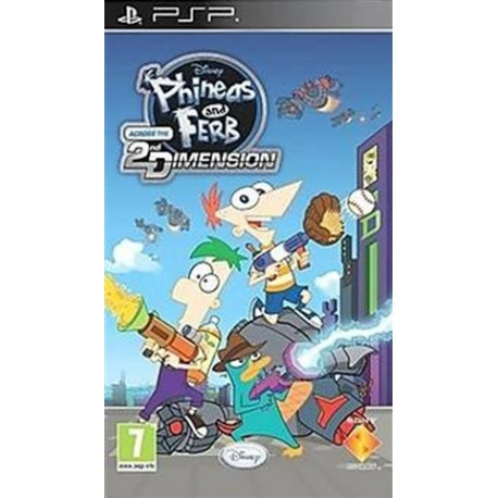 PSP Phineas And Ferb Across The 2nd Dimension (used)