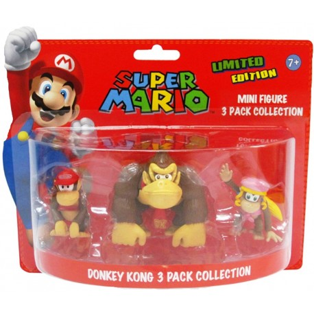 SUPER MARIO - DONKEY KONG 3 PACK COLLECTION (5CM)