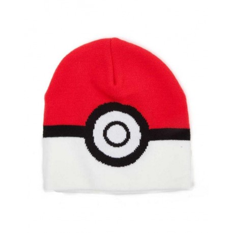 POKEMON - POKEBALL RED & WHITE BEANIE (KC091722POK)
