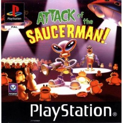PS1 ATTACK OF THE SAUCERMAN (USED)