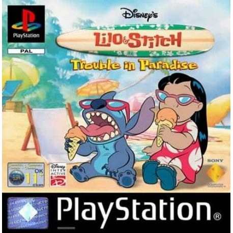 PS1 LILO AND STITCH TROUBLE IN PARADASE (USED)