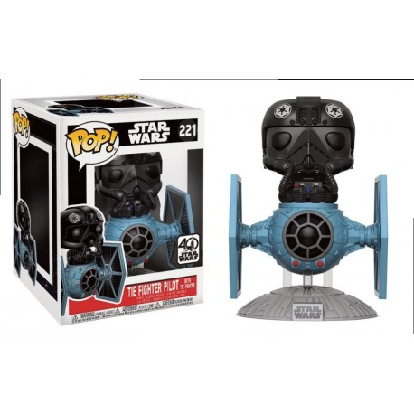 POP! Star Wars: Tie Fighter Pilot with Tie Fighter no221 Vinyl Bobble-Head Figure