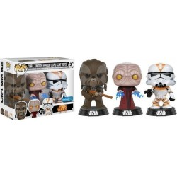 POP! Star Wars: Tarfful, Unhooded Emperor, Utapau Clone Trooper - 3-Pack NYCC 2017 Vinyl Figures