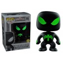 POP! MARVEL: BLACK SUIT SPIDER-MAN GLOWS IN THE DARK EXCLUSIVE no79 BOBBLE-HEAD FIGURE