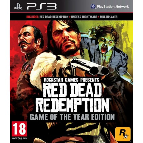 PS3 RED DEAD REDEMPTION GAME OF THE YEAR (USED)