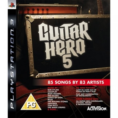 PS3 Guitar Hero 5 (Game Only) (used)